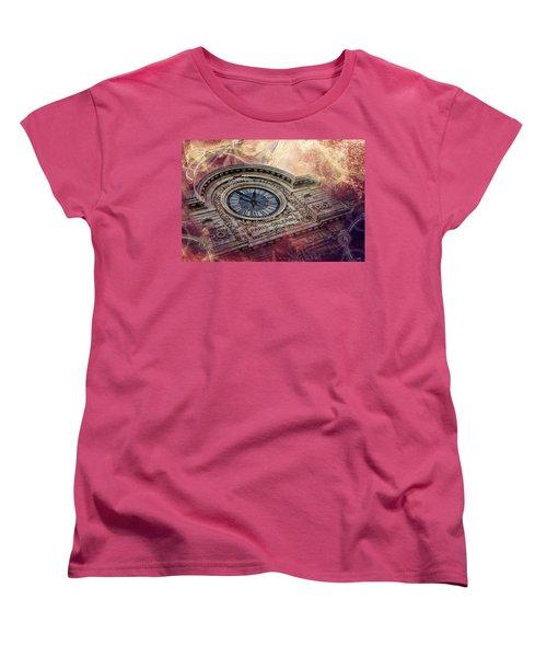 D'orsay Clock Paris Women's T-Shirt (Standard Cut) by Evie Carrier