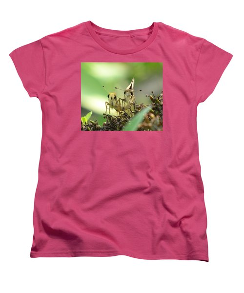 Women's T-Shirt (Standard Cut) featuring the photograph Double Trouble by Jennifer Wheatley Wolf