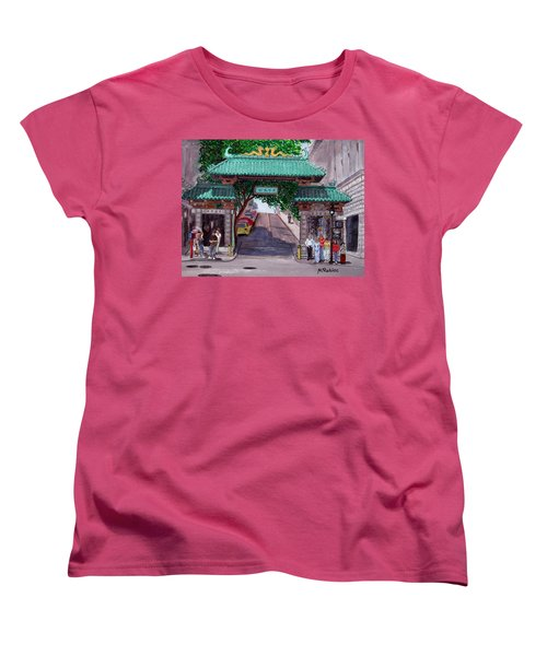Dragon Gate Women's T-Shirt (Standard Cut) by Mike Robles