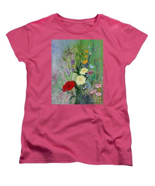 Dragonflies Dancing Women's T-Shirt (Standard Cut) by Robin Maria Pedrero