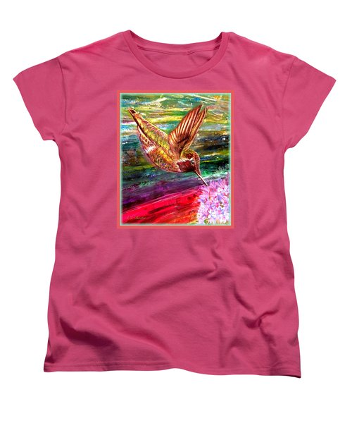 Dream Of A Hummingbird  Women's T-Shirt (Standard Cut) by Kimberlee Baxter