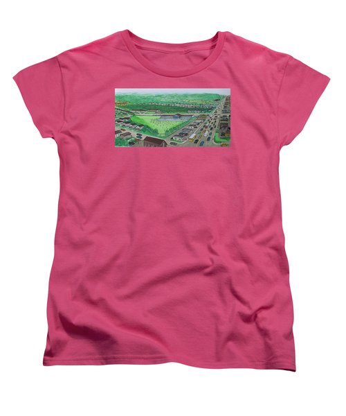 Dreamland Swimming Pool In Portsmouth Ohio 1950s Women's T-Shirt (Standard Cut) by Frank Hunter