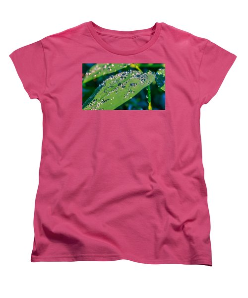 Women's T-Shirt (Standard Cut) featuring the photograph Droplets by Rob Sellers