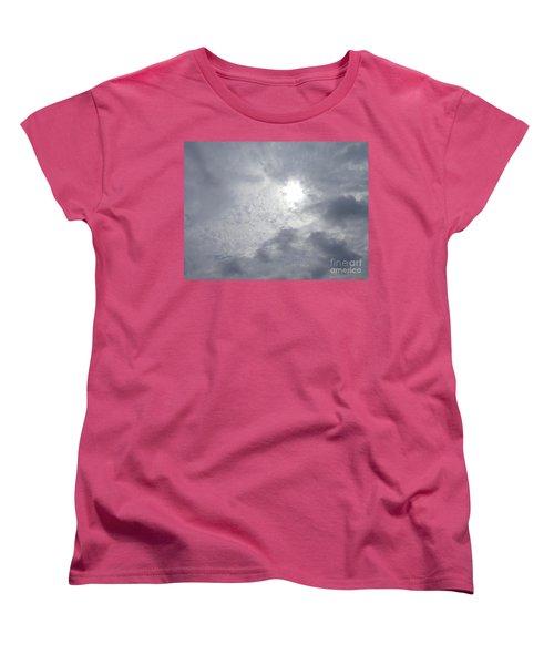 Duck In Beautiful Sky Women's T-Shirt (Standard Cut) by Christina Verdgeline