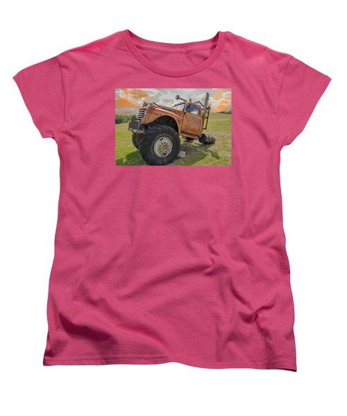Women's T-Shirt (Standard Cut) featuring the photograph Dun Run His Butt Off by Bartz Johnson