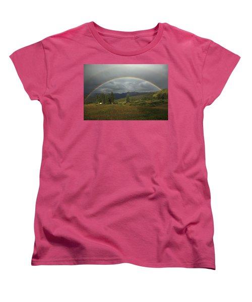 Durango Double Rainbow Women's T-Shirt (Standard Cut) by Alan Vance Ley