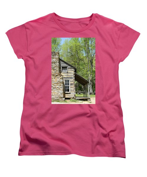 Early Appalachian Home Women's T-Shirt (Standard Cut) by Mark Minier