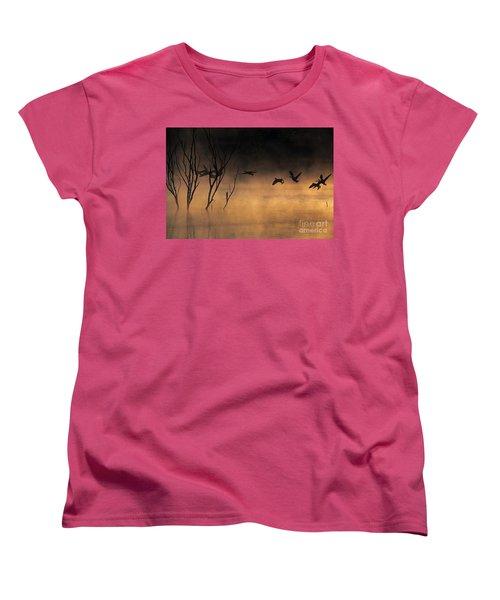 Early Morning Flight Women's T-Shirt (Standard Cut) by Elizabeth Winter