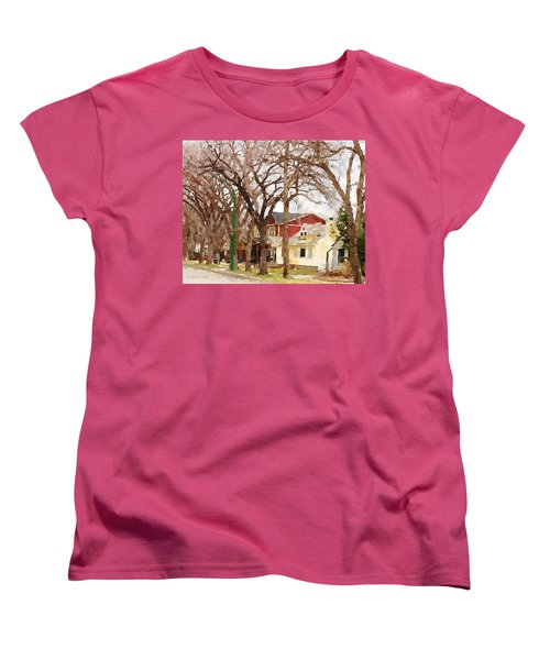 Early Spring Street Women's T-Shirt (Standard Cut) by Donald S Hall