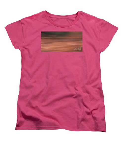 Women's T-Shirt (Standard Cut) featuring the digital art Abstract Earth Motion Soil by Linsey Williams