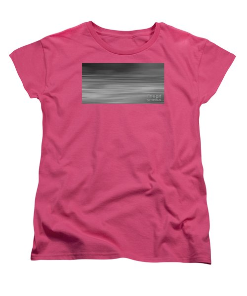 Women's T-Shirt (Standard Cut) featuring the digital art Abstract Earth Motion Slate  by Linsey Williams