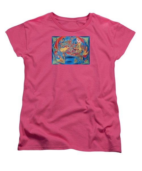 EAT Women's T-Shirt (Standard Cut) by Robert Nickologianis