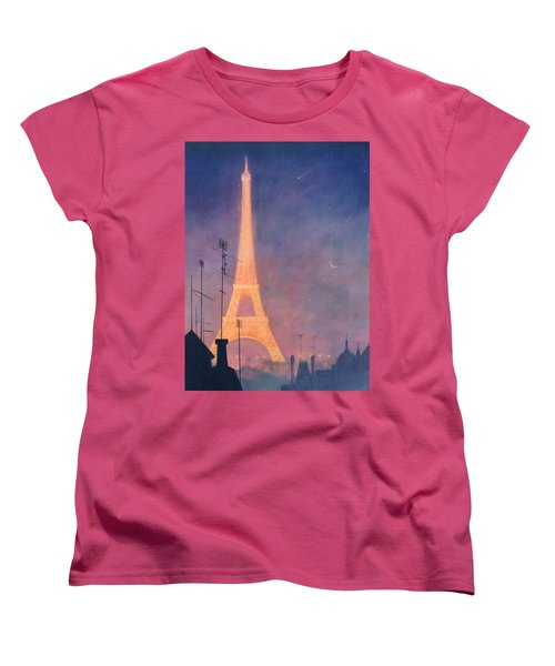Eiffel Tower Women's T-Shirt (Standard Cut) by Blue Sky