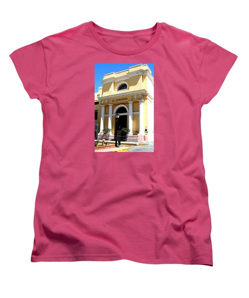 Women's T-Shirt (Standard Cut) featuring the photograph El Convento Hotel by The Art of Alice Terrill