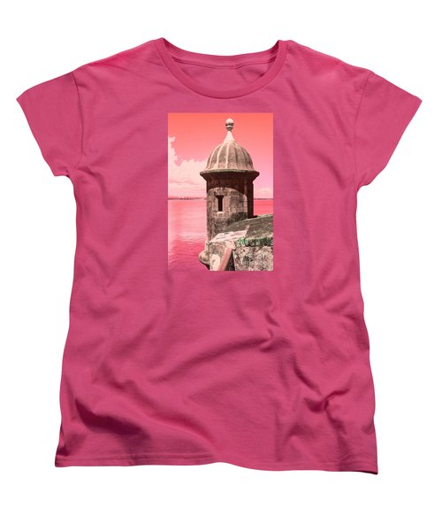 El Morro In The Pink Women's T-Shirt (Standard Cut)