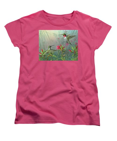 Women's T-Shirt (Standard Cut) featuring the painting Elegance  by Mike Brown