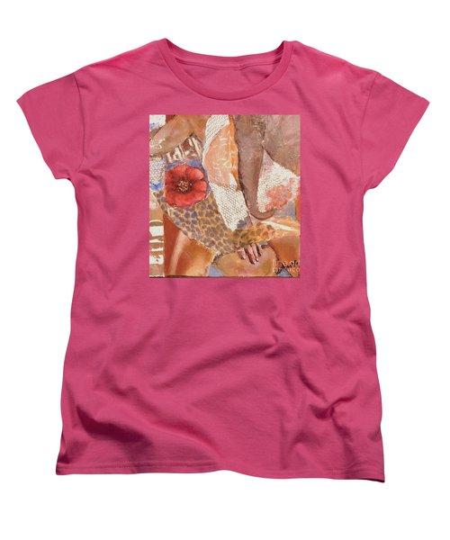 Elephant Walk Women's T-Shirt (Standard Cut) by Glory Wood