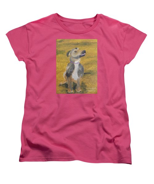Women's T-Shirt (Standard Cut) featuring the painting Ella by Pamela  Meredith