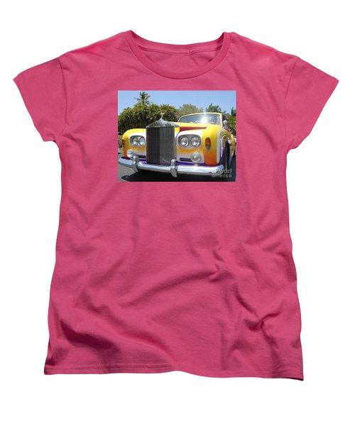 Elton John's Old Rolls Royce Women's T-Shirt (Standard Cut) by Barbie Corbett-Newmin
