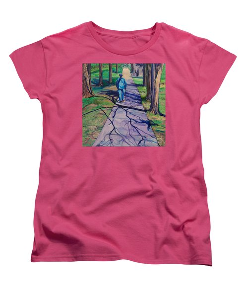 Women's T-Shirt (Standard Cut) featuring the painting Entanglement On Highway 98' by Ecinja Art Works