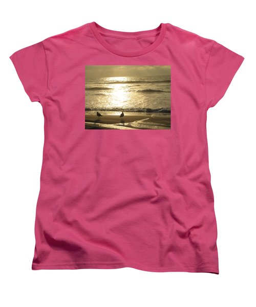 Evening Stroll Women's T-Shirt (Standard Cut) by Judith Morris