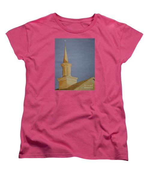 Women's T-Shirt (Standard Cut) featuring the painting Evening Worship by Stacy C Bottoms