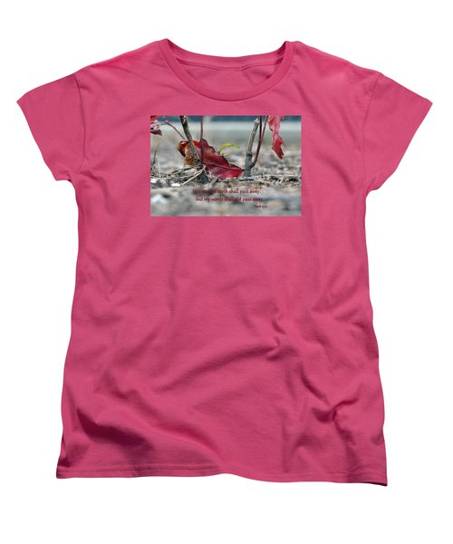 Women's T-Shirt (Standard Cut) featuring the photograph Everlasting Words by Larry Bishop