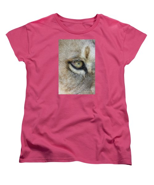 Women's T-Shirt (Standard Cut) featuring the photograph Eye Of The Lion by Judy Whitton