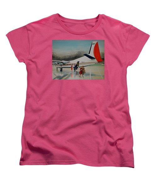 F-27 At Columbus Ohio Women's T-Shirt (Standard Cut) by Frank Hunter