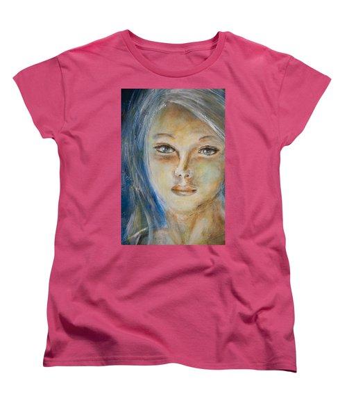 Face Of An Angel Women's T-Shirt (Standard Cut) by Nik Helbig