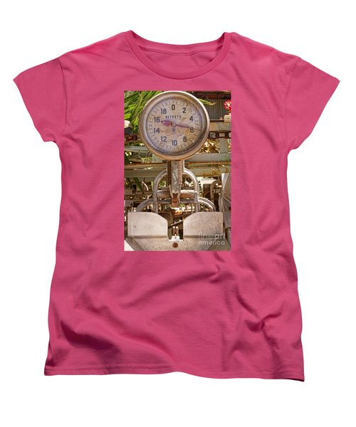 Women's T-Shirt (Standard Cut) featuring the photograph Farm Scale by Kerri Mortenson