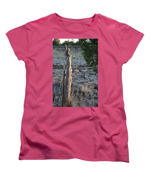 Women's T-Shirt (Standard Cut) featuring the photograph Fence Post by David S Reynolds