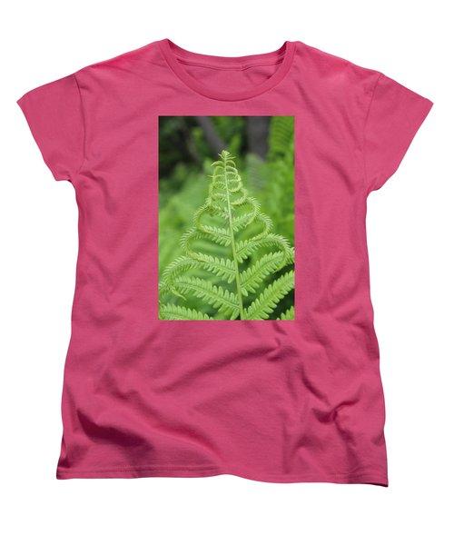 Fern Women's T-Shirt (Standard Cut) by Tiffany Erdman