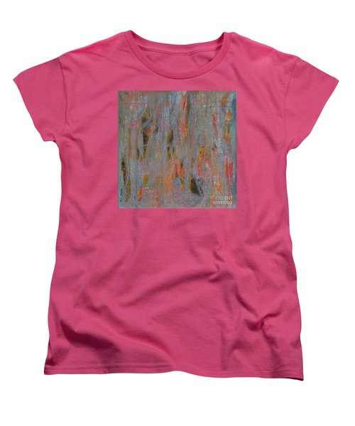 Women's T-Shirt (Standard Cut) featuring the painting Fibres Of My Being by Mini Arora