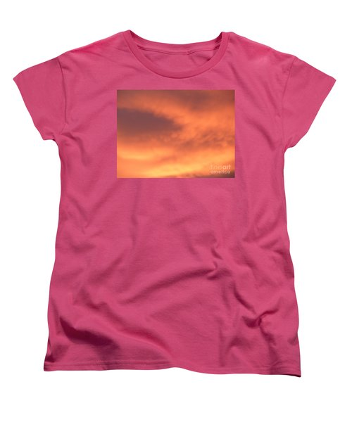 Fire Clouds Women's T-Shirt (Standard Cut) by Joseph Baril