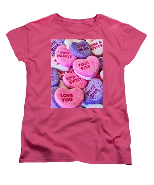 Women's T-Shirt (Standard Cut) featuring the photograph Valentines Day by Vizual Studio