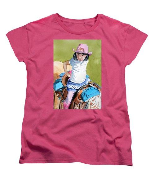 First Time Women's T-Shirt (Standard Cut) by Debbie Hart