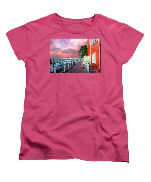 Women's T-Shirt (Standard Cut) featuring the photograph Fisherman's Village Marina Del Mar Ca by David Zanzinger