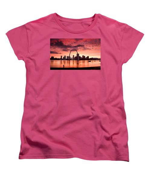 Fishing The Mississippi In St Louis Women's T-Shirt (Standard Cut) by Garry McMichael