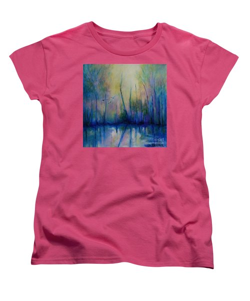 Flight In Morning Symphony Women's T-Shirt (Standard Cut) by Alison Caltrider