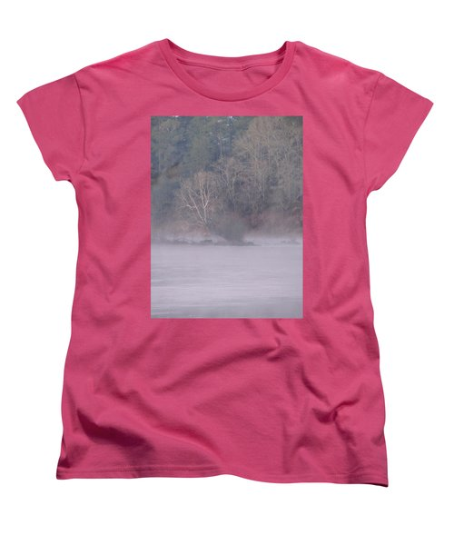 Women's T-Shirt (Standard Cut) featuring the pyrography Flint River 10 by Kim Pate