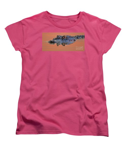 Women's T-Shirt (Standard Cut) featuring the photograph Alligator For Florida  by Luana K Perez