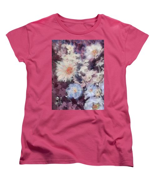 Flower  Burst Women's T-Shirt (Standard Cut) by Richard James Digance