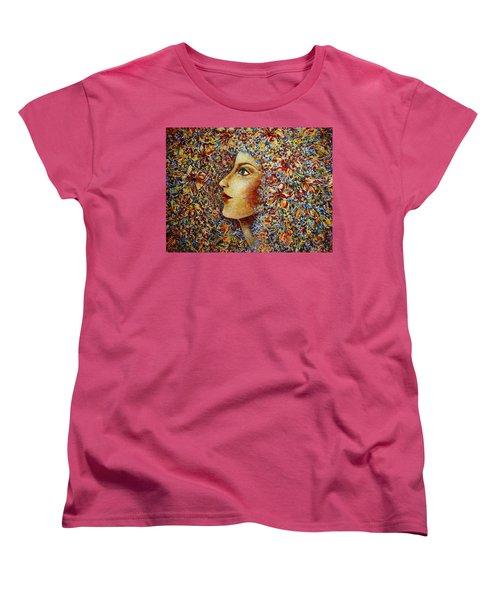 Flower Goddess. Women's T-Shirt (Standard Cut) by Natalie Holland