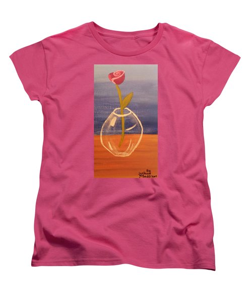 Flower In Vase Women's T-Shirt (Standard Cut) by Joshua Maddison