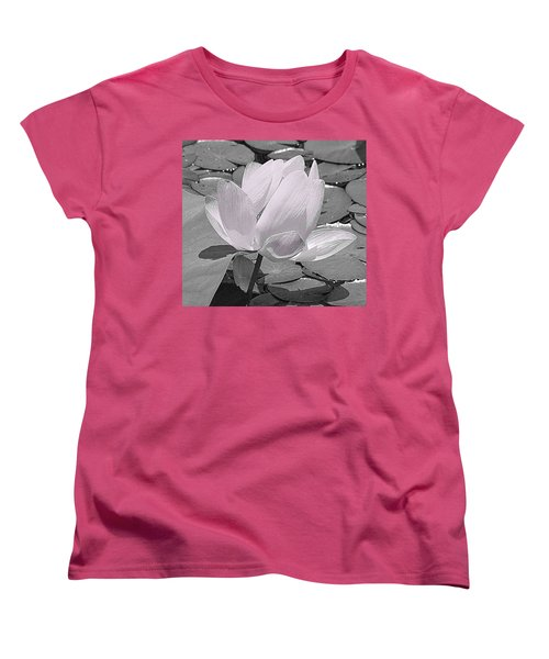 Flower Lilly Pad Women's T-Shirt (Standard Cut) by Steve Archbold