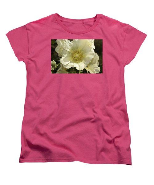 Flower Petals Of A White Flower Women's T-Shirt (Standard Cut) by Ashish Agarwal