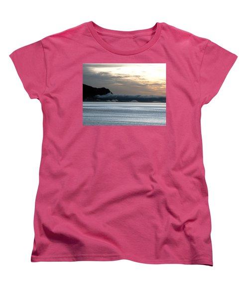 Women's T-Shirt (Standard Cut) featuring the photograph Fog Roll Sunset by Jennifer Wheatley Wolf