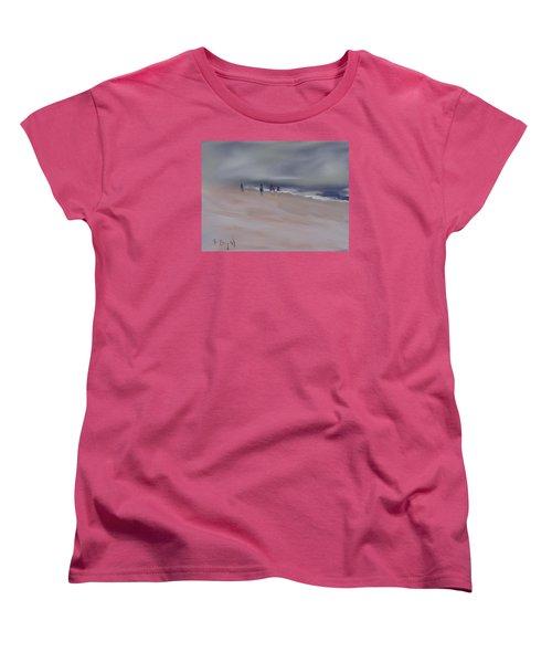 Fog On Folly Field Beach Women's T-Shirt (Standard Cut) by Frank Bright