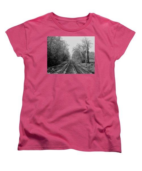 Foggy Ending In Black And White Women's T-Shirt (Standard Cut)